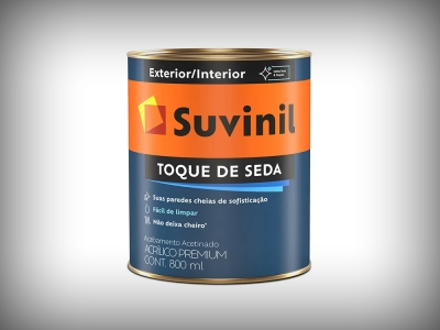 Tinta Acrílica Suvinil Acetinado Toque de Seda - Cores - 3,6 Litros